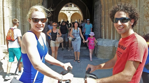 segway riders close up in rhodes
