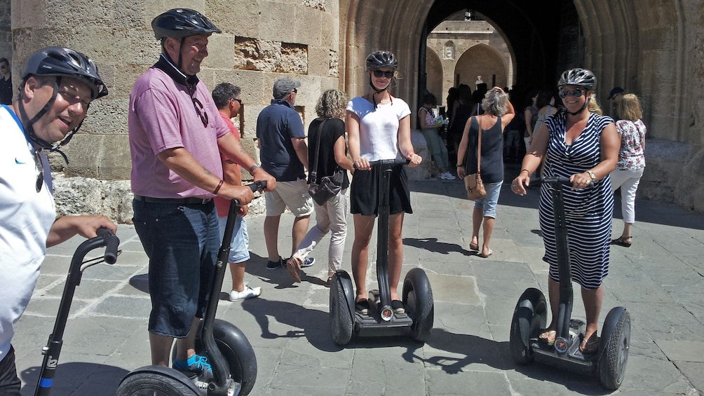 Show item 2 of 5. segway riders in group in rhodes
