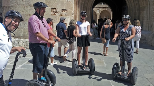 segway riders in group in rhodes