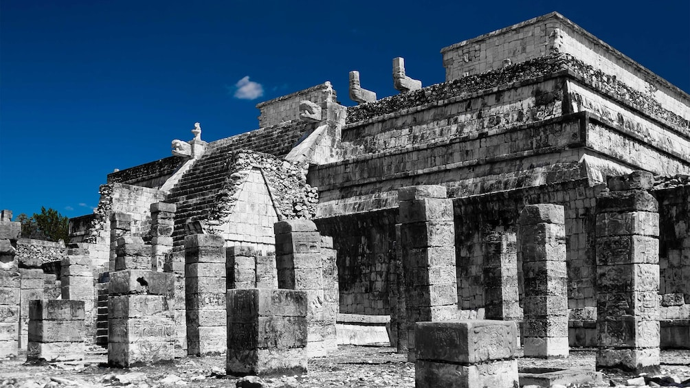 Show item 3 of 10. Chichen Itza, the temple of the warriors