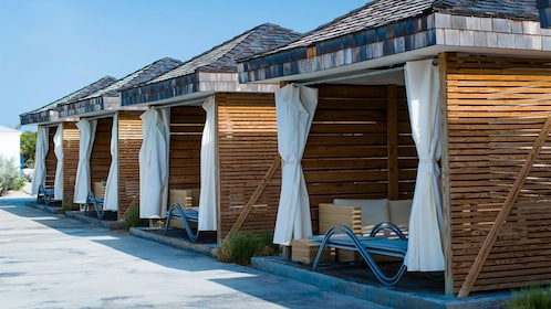 Pool cabanas on Balmoral Island