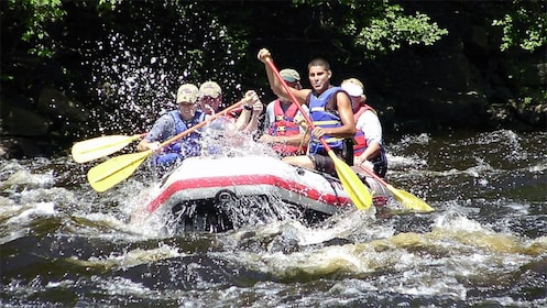 Rafting group on the Lehigh River