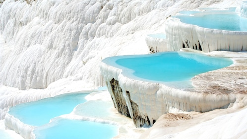white terraced travertine pools