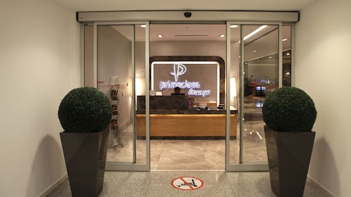 Entrance to Ataturk Airport International Lounge in Istanbul