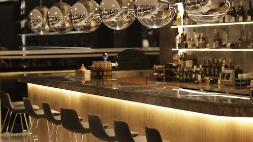 Bar area at Ataturk Airport International Lounge in Istanbul