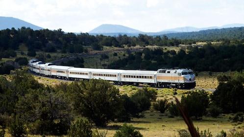 Panoramic view of a train in Arizona