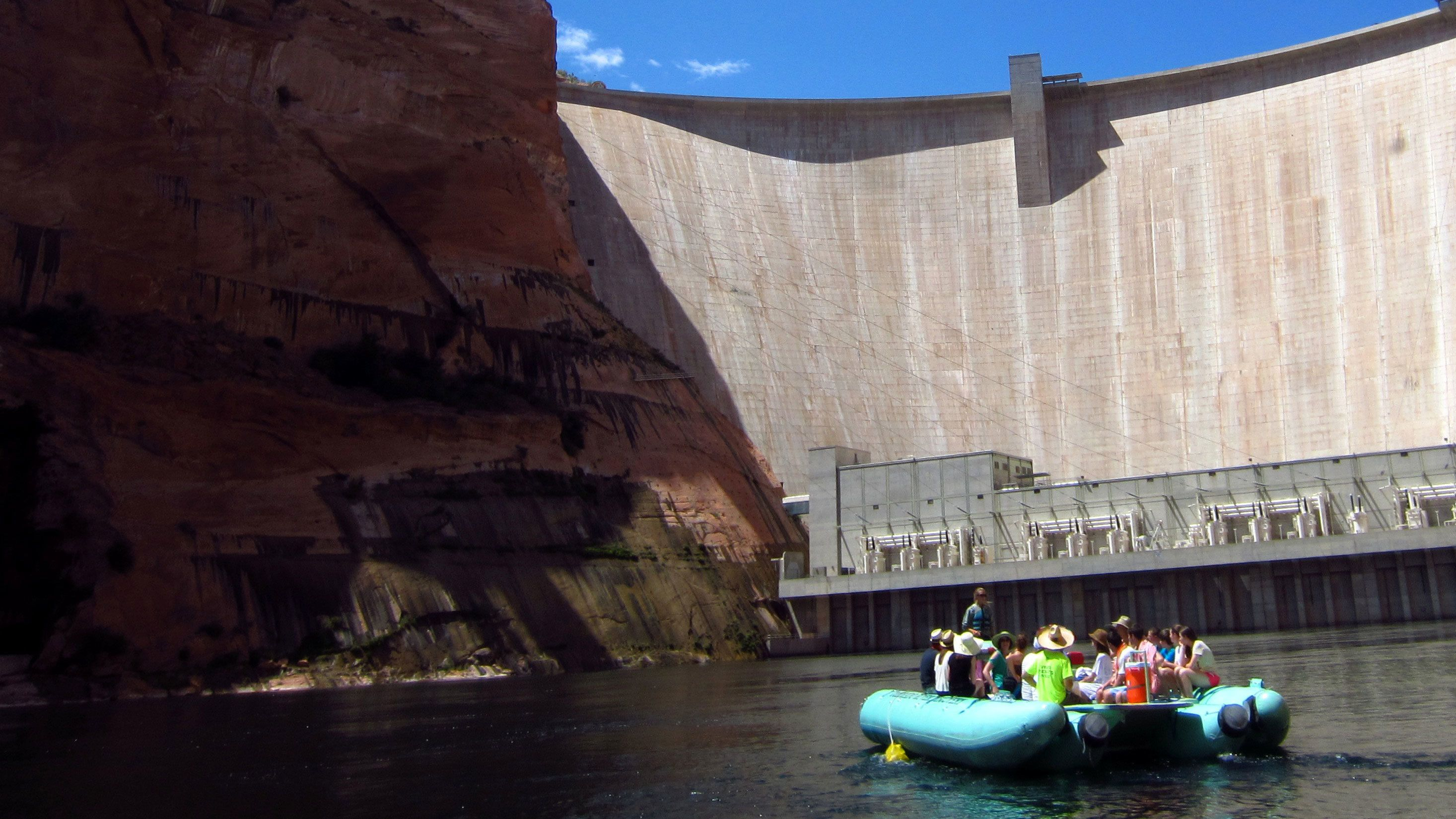 Inflatable boat on the Colorado River Scenic Float Trip