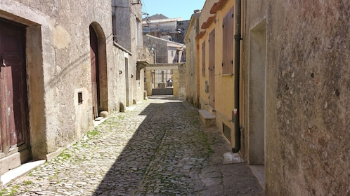 An old alley way and cobblestone walkway of Erice