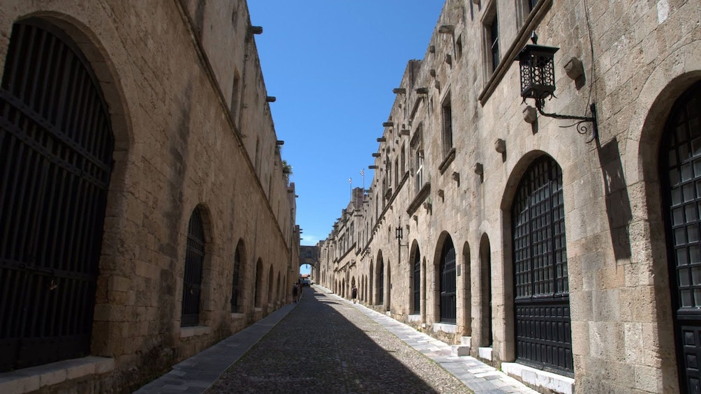 Brick roadway in Grecian Town