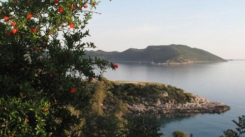 Beautiful view of the coastline.