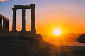 Sunset Sounio Half Day 5 Hours Open Tour.