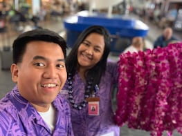 Authentic Lei Greeting at Lihue Airport
