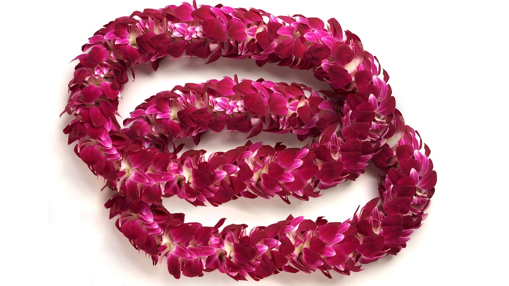 Show item 5 of 6. Double pink lei
