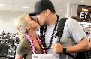 Honeymoon Lei Greeting at Honolulu Airport