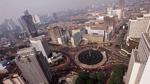 Birds eye view of Jakarta