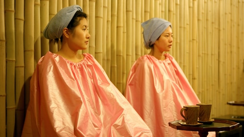 Two women at the Dragon Hill Spa in Seoul
