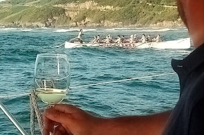 Wine tasting in the Urdaibai estuary aboard a catamaran