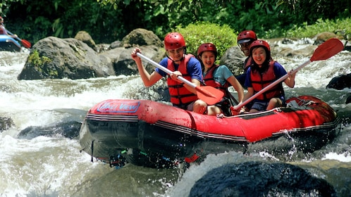 People river rafting