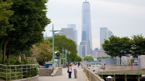 Hudson River Park with a view of One World Observatory