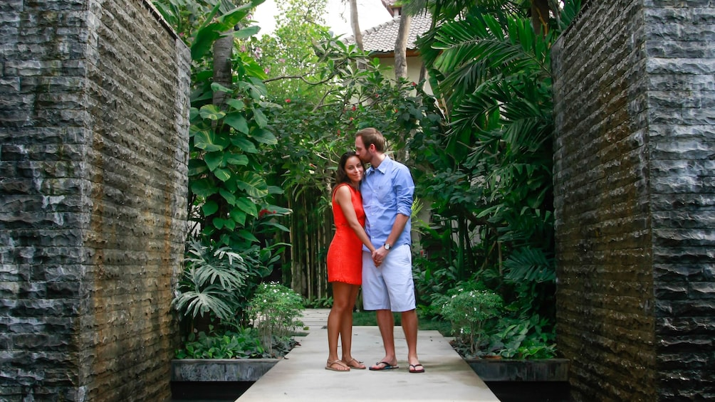 Couple posing for photo in bali