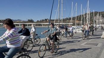 Cykeltur i Málaga, herunder Malagueta og den nye havn
