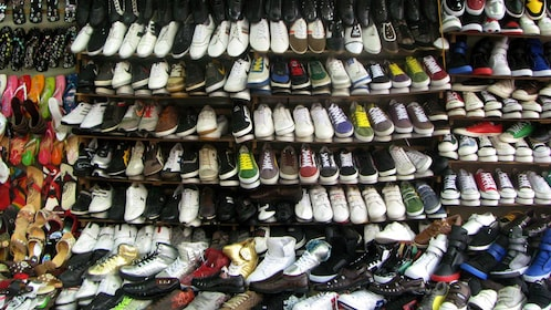 A wall of Shoes