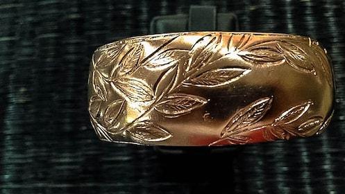 Close up of completed bracelet.