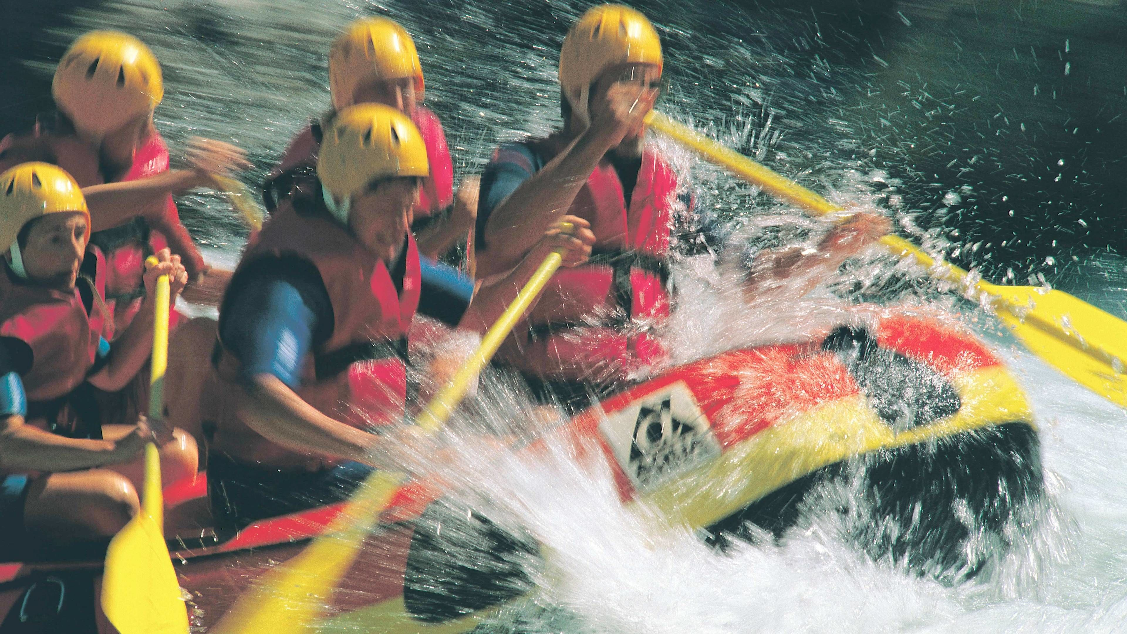 Close shot of group on Colorado River White Water Rafting