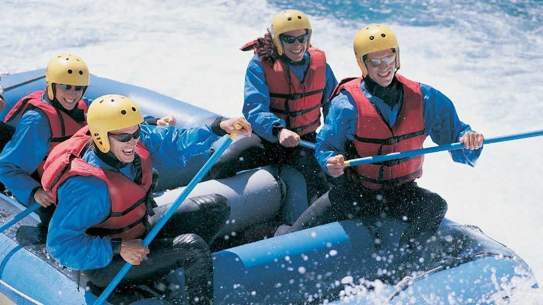 Group enjoying the Colorado River White Water Rafting