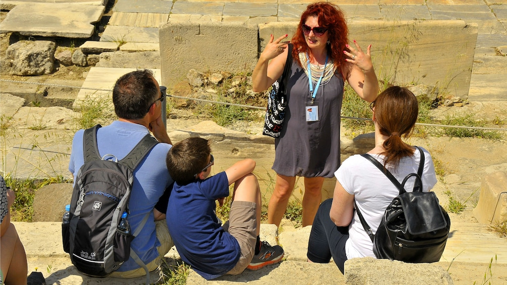 Group on tour in Athens, Greece