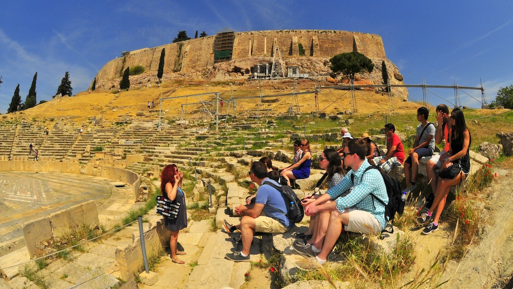 Group on an excursion in Athens, Greece