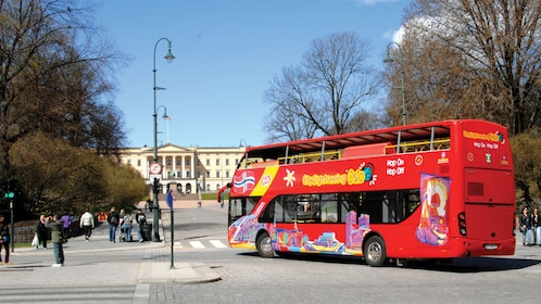 Board a double decker tour bus to experience Oslo