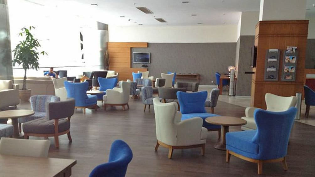 View of the Izmir Domestic Comfort Lounge in Istanbul