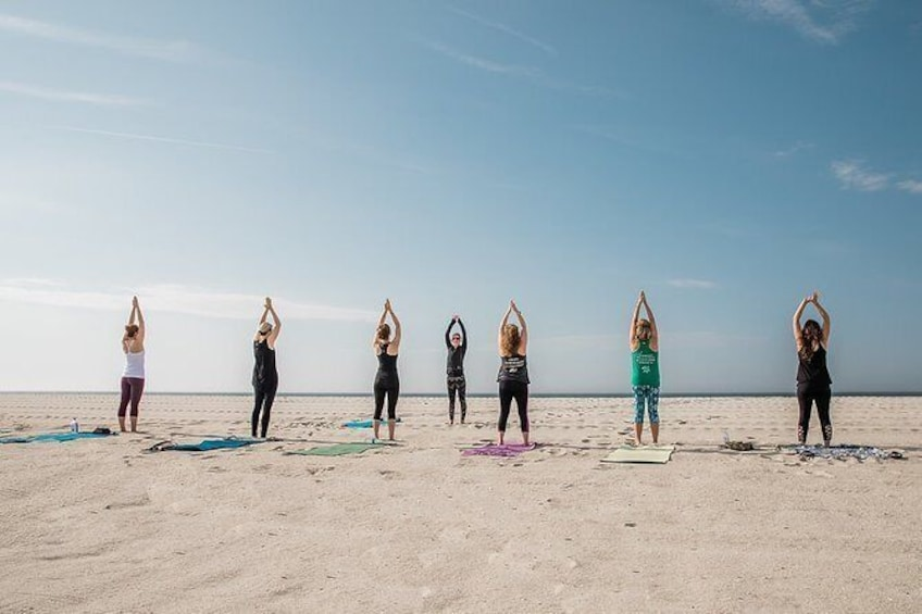 Show item 2 of 2. Beach Yoga Class in Cape May