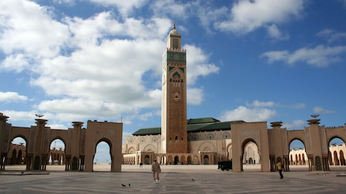 Hassan II Mosque courtyard.