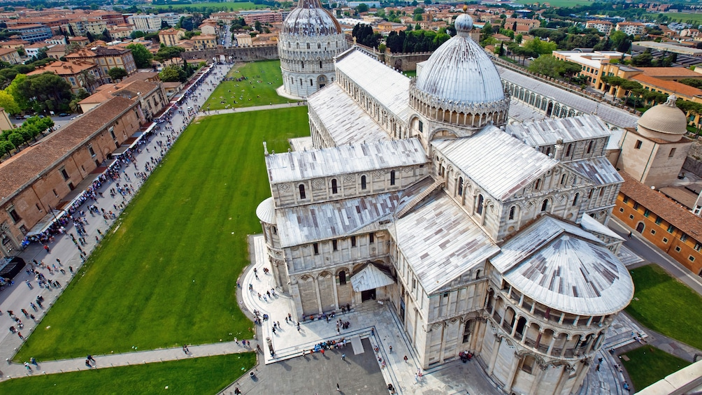 Aerial view of Piazza dei Miracoli.