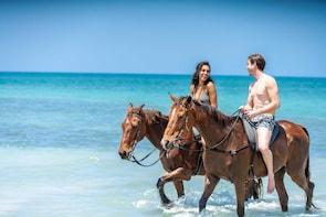 Promenade à cheval et baignade