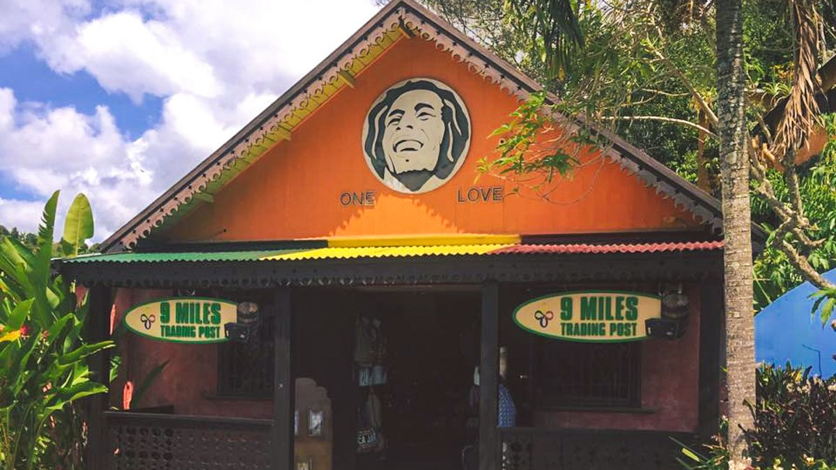Building for Bob Marley tourist attraction in Nine Mile, Jamaica.