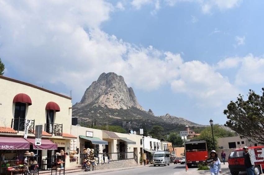 Magic town of Bernal from San Miguel de Allende