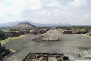 Teotihuacan Pyramids from San Miguel de Allende