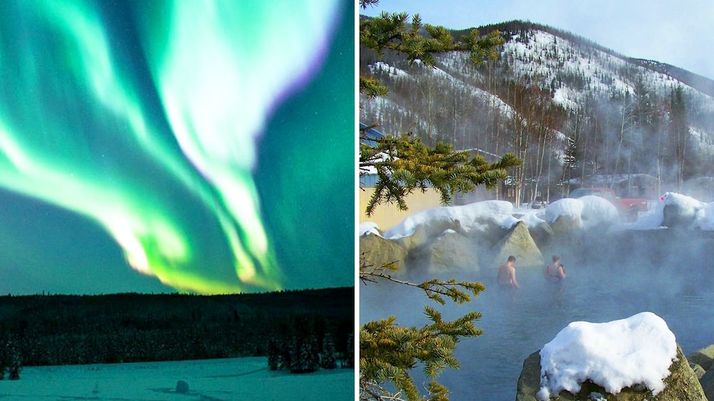 Show item 1 of 10. Northern Lights and Chena Hot Springs in Fairbanks