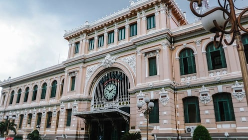 Wide angle view of building in Ho Chi Minh City.