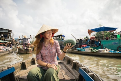 Small Group Small Mekong Floating Market-Kayak-Cooking Class