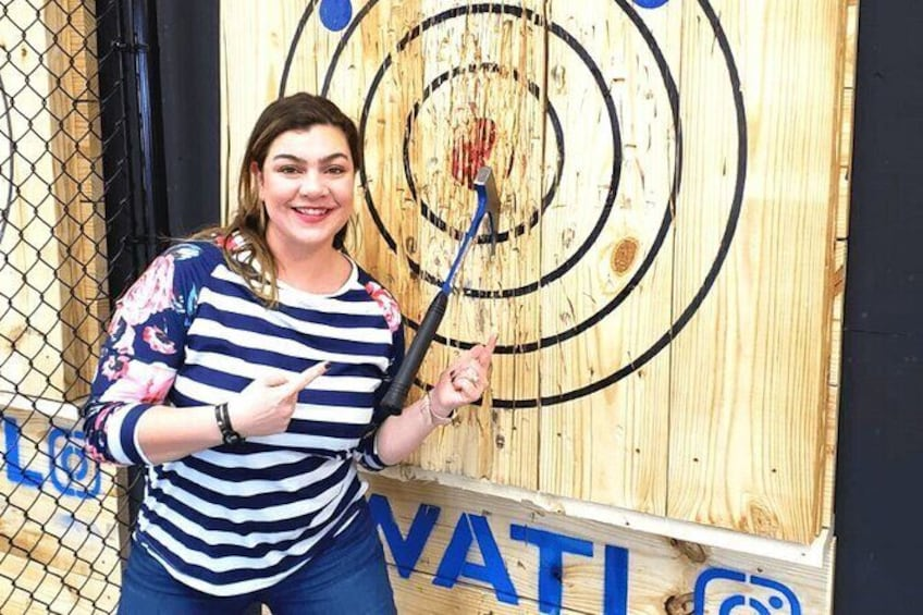 Show item 4 of 5. Private Axe Throwing for 1 Hour