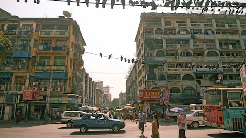 Beautiful street view of Myanmar