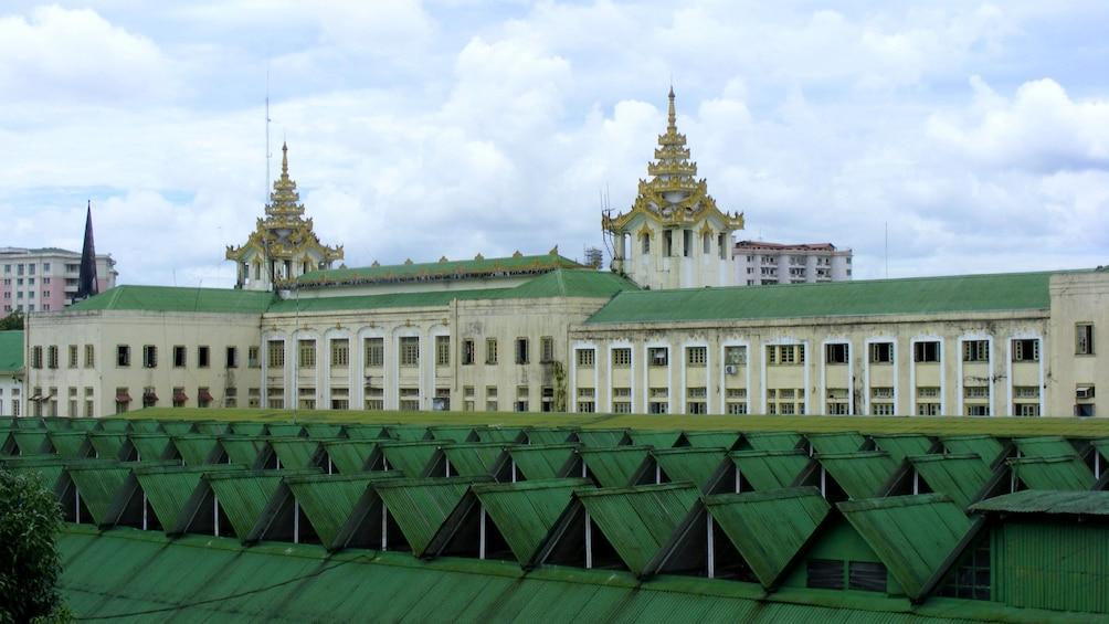 Panoramic street view of Myanmar