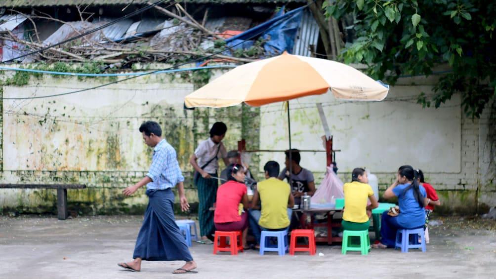 Street view of Yangon in Myanmar