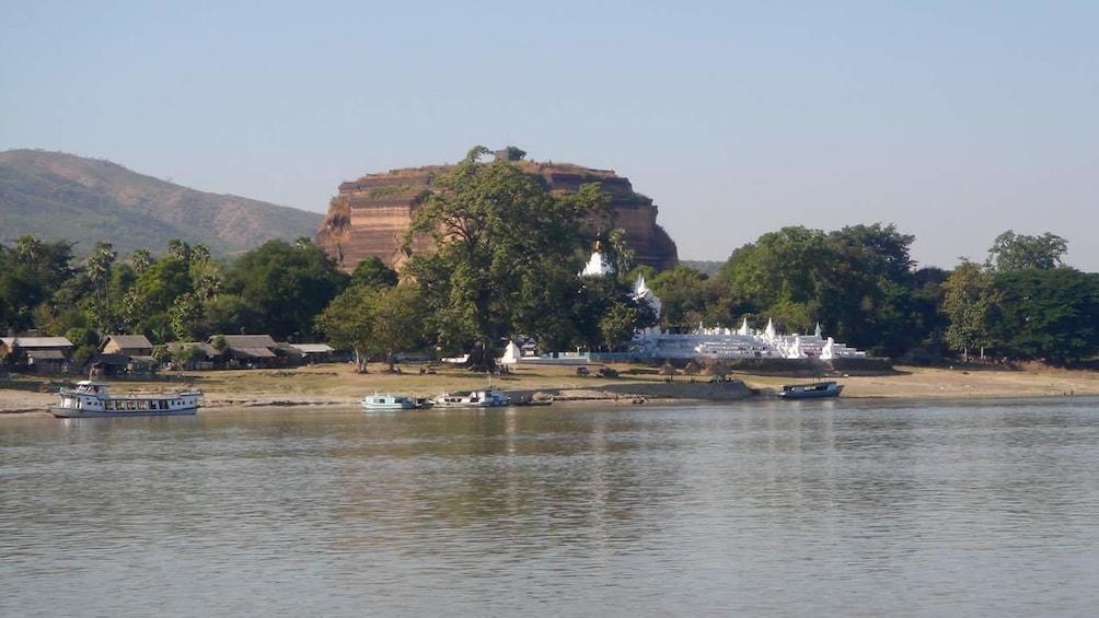 Serene river view in Myanmar