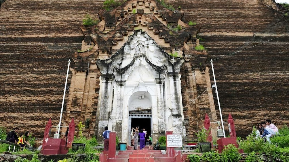 Entrance view to the Mingun Pahtodawgyi  Buddhist Temple in Myanmar