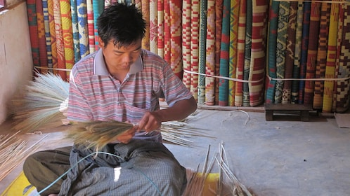Man sorting raw materials.